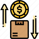 product, expense, exchange, variable, commerce icon