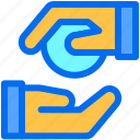 business, giving, money, payment, responsibility icon