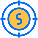 business, finance, money, payment, target icon