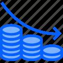 decrease, down, chart, analytics, graph, finance, prediction