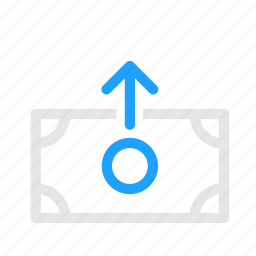 bank, money, note, transfer, withdraw icon