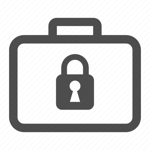 locked, money, padlock, suitcase icon