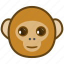ape, cartoon, emotions, happy, monkey, smile icon