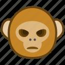 ape, bad, cartoon, emotions, monkey, smile