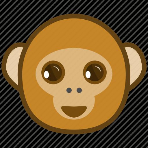 ape, cartoon, cheerful, emotions, monkey, smile icon