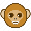 ape, cartoon, emotions, laugh, monkey, smile icon