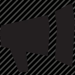 announcement, megaphone, message icon