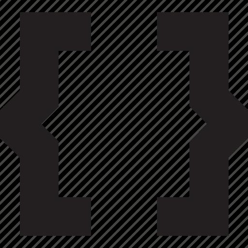brackets, code icon