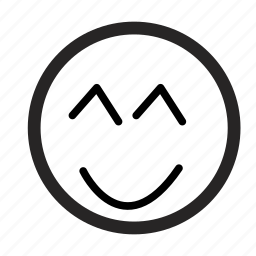 emoji, emoticons, monochrome, smileys icon