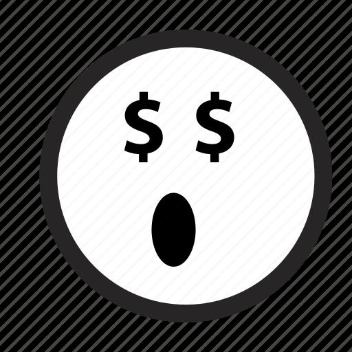 emoji, emoticons, monochrome, smileys icon