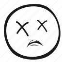 emoticon, monochrome, emoji, face