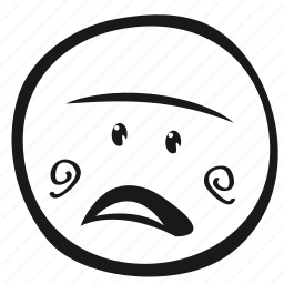emoji, emoticon, face, monochrome icon