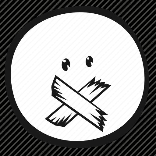 emoji, emoticon, face, monochrome icon