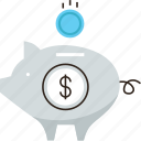 bank, dollar, money, pension, piggy, revenue, save, saving icon