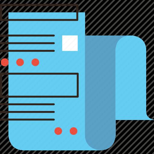 blog, business, data, information, list, paper, sheet icon