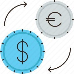 conversion, currency, dollar, euro, exchange, money, rate, transfer icon