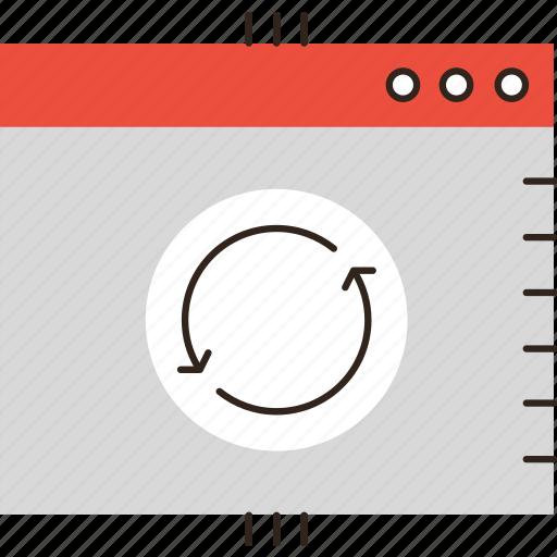 process, program, progress, software, sync, synchronization, update, window icon