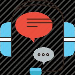 call, customer, headphones, headset, help, hotline, phone, service icon