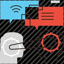 business, connection, conversation, organization, people, team, work icon