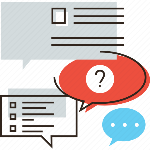 answers, asks, consulting, conversation, faq, questions, talk icon