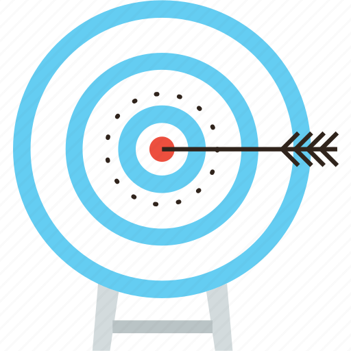 accuracy, aim, archery, arrow, goal, intention, success, target icon