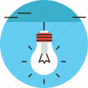 bulb, creativity, efficiency, electricity, glow, impression, lamp icon