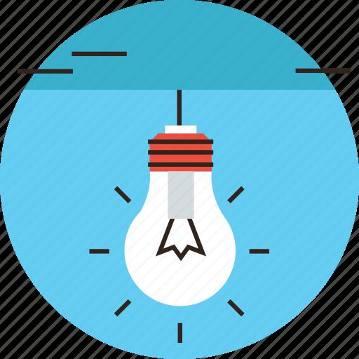 bulb, creativity, efficiency, electricity, glow, impression, lamp icon