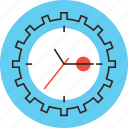 clock, cog, deadline, hour, management, time, urgency, work icon
