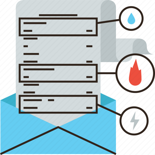 bill, cost, home, insurance, invoice, payment, policy, utility icon