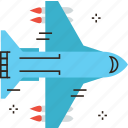 air, aircraft, airplane, arrange, deploy, flying, military, plane icon