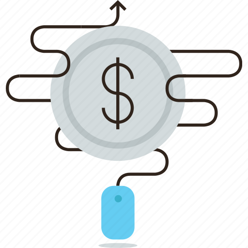 click, cost, internet, pay, per, ppc, sales, traffic icon