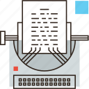 article, blog, content, copywriting, editorial, media, story, typewriter icon