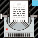 article, blog, content, copywriting, editorial, media, story, typewriter