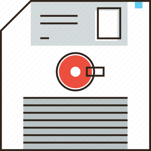 archive, computer, data, disk, diskette, floppy, management icon
