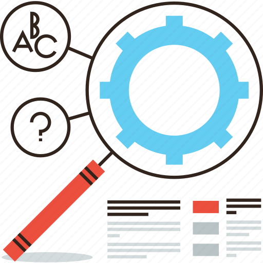 analysis, data, engine, keyword, magnifier, optimization, result, search icon
