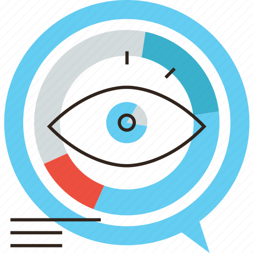 analysis, analytics, chart, data, eye, marketing, research, visual, visualization icon