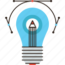 artistic, creative, creativity, design, draw, idea, lightbulb icon