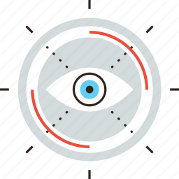 eye, focus, future, look, perception, sight, vision icon