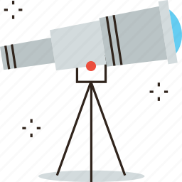 ahead, astronomy, forecast, foresight, observation, prediction, telescope, vision icon