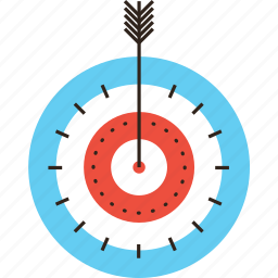aim, archery, arrow, goal, mission, point, purpose, target icon