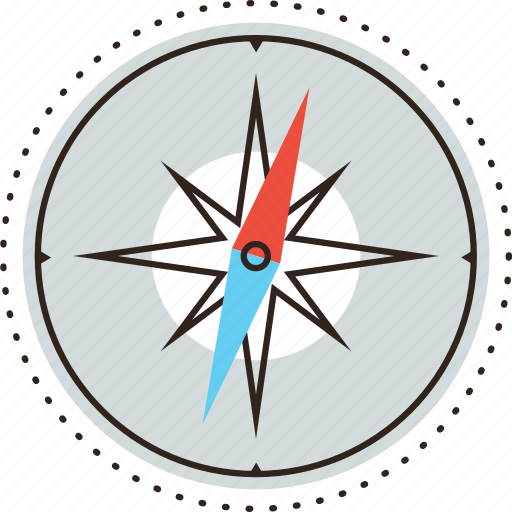 compass, direction, guide, navigation, north, route, travel, traveling icon