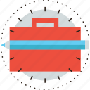 bag, brief, briefcase, business, case, folder, portfolio icon