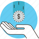 debt, donation, funding, inclome, loan, money, pay, sponsor, tax icon
