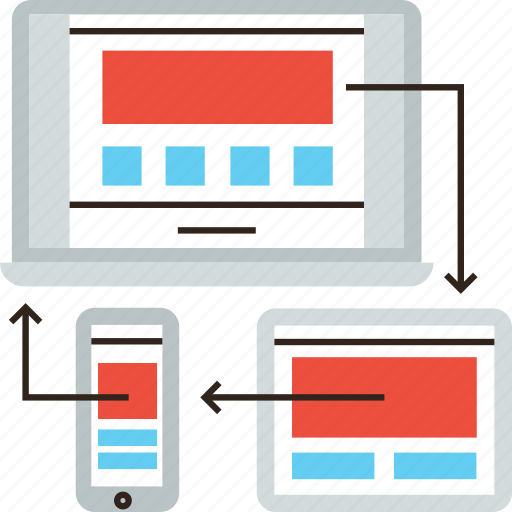 design, mobile, phone, responsive, tablet, web, website icon