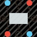 algorithm, chart, flow, mindmap, plan, scheme, workflow icon