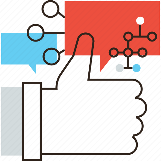 brand, campaign, like, media, relation, social, strategy icon