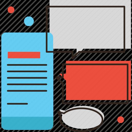 chat, communication, conversation, dialog, message, mobile, phone icon