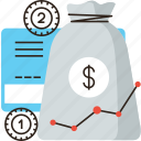 accumulation, asset, bag, banking, capital, economy, fund, invest, money, wealth icon