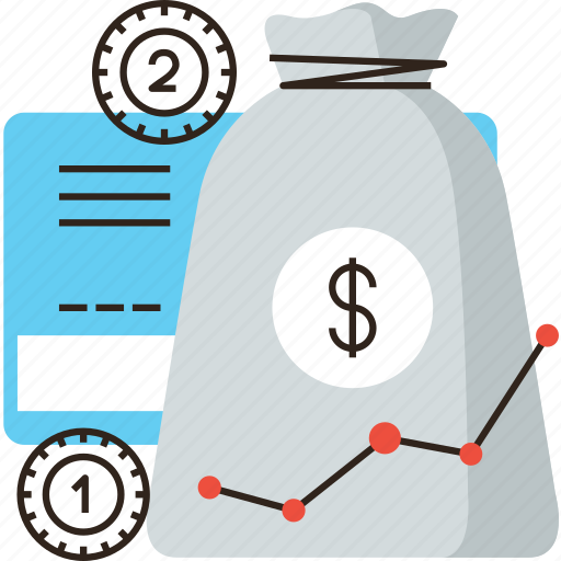 accumulation, asset, bag, banking, capital, economy, fund, invest, money, wealth icon