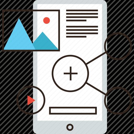 add, media, mobile, multimedia, phone, photo, sharing, social icon